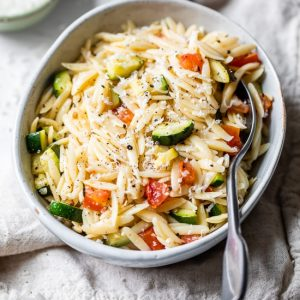 Best Air Fryer – Orzo with Zucchini and Tomato