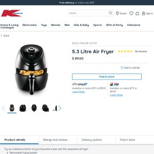 Best Air Fryer – Anko Air Fryer 5.3l Brandon Park Kmart VIC