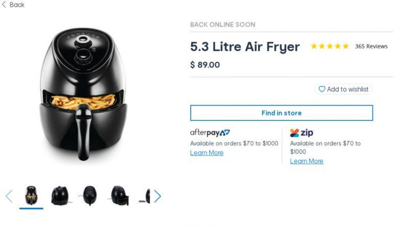 Best Air Fryer – Anko Air Fryer 5.3l Brandon Park Kmart VIC