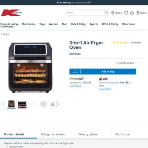 Best Air Fryer – 3-in-1 Air Fryer Oven K-Mart @ $129