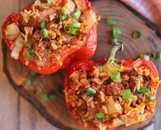 Best Air Fryer – Stuffed peppers with veggie sausage