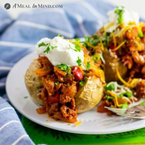 Best Air Fryer – Sloppy Joe Stuffed Potatoes GF