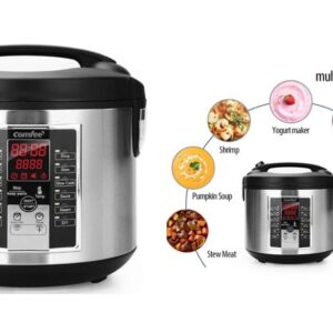 Zojirushi NS-ZCC10 Rice Cooker 50% Off COMFEE' Rice Cooker, Slow Cooker, Steamer, Stewpot, Sauté All in One Multi Cooker (5.2Qt )