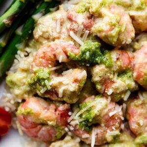 Rice Cooker Recipes Creamy Pesto Shrimp