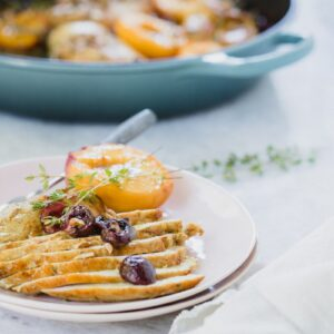 Rice Cooker Recipes Skillet Spiced Roasted Chicken with Summer Fruits