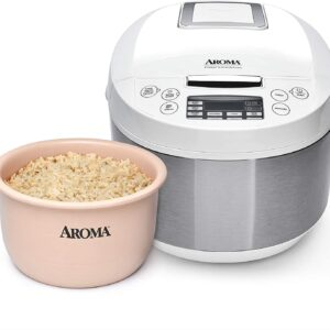 Aroma Housewares ARC-6206C Ceramic Rice Cooker/Multicooker, White